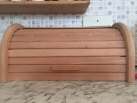 Wooden Slatted Bread Bin