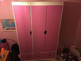 Girls pink wardrobe