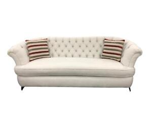 Canadian made Cream Tufted Back Sofa set with Diamonds (BD-1767)
