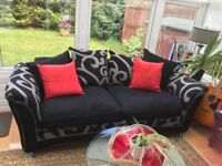 Black/Grey Sofas 3 + 2 Seater Looking for Quick Sale!!! Collection Only