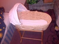 moses basket and rocking stand gc