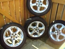 newly refurb alloy ford wheels