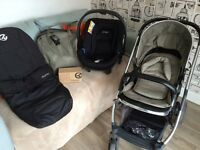 Pram/pushchair travel system- oyster 2 with car seat