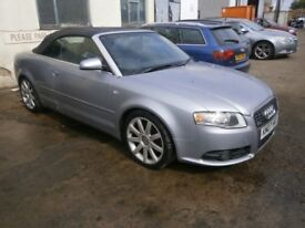 2007 AUDI A4 CONVERTIBLE 2.0 TFSI PETROL BREAKING FOR SPARE PARTS
