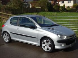 Peugeot 206 2.0 GTi 3dr (dig a/c) CAMBELT JUST CHANGED + VERY LOW MILES