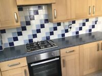 Two bed 1st Floorflat in Stoke to rent unfurnished with GCH,DG fitted kitchen & outside terrace