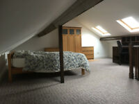 Lovely attic room with views of Menai Bridge available now in spacious house