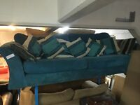 TEAL DFS SOFA (DELIVERY AVAILABLE)
