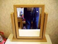 Unknown Wood Dressing Table Mirror