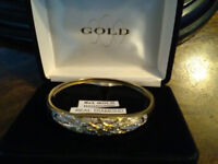 VINTAGE .BANGLE. GOLD and DIAMONDS Celtic design ladies.now £475 priced to sell ..was £575