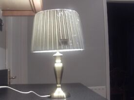 Table lamp with new pleated shade