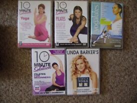 DVD, Fitness DVDs, 5 DVDs and pilates ball