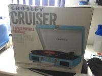 Crosley Cruiser turntable (BRAND NEW BOXED) turquoise