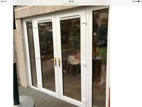 WANTED - WHITE UPVC FRENCH PATIO DOORS WITH SIDE PANELS