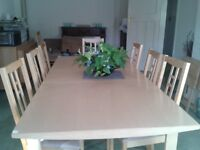 dinning table and chairs (8 chairs)