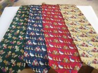 Job lot of 105 new silk ties - great for resale - Christmas, school fetes, fairs and car boot sales