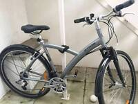 B twin original 500 front suspension hybrid bike great condition ready to ride away