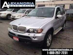 2004 BMW X5 4.4i/PANORAMIC ROOF/LEATHER