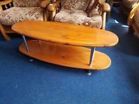 Oval Pine 2 Tier Coffee Table