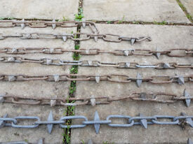 6mm Galvanised Steel Spiked Decorative Chain - 7 lengths 900mm to 1800mm.