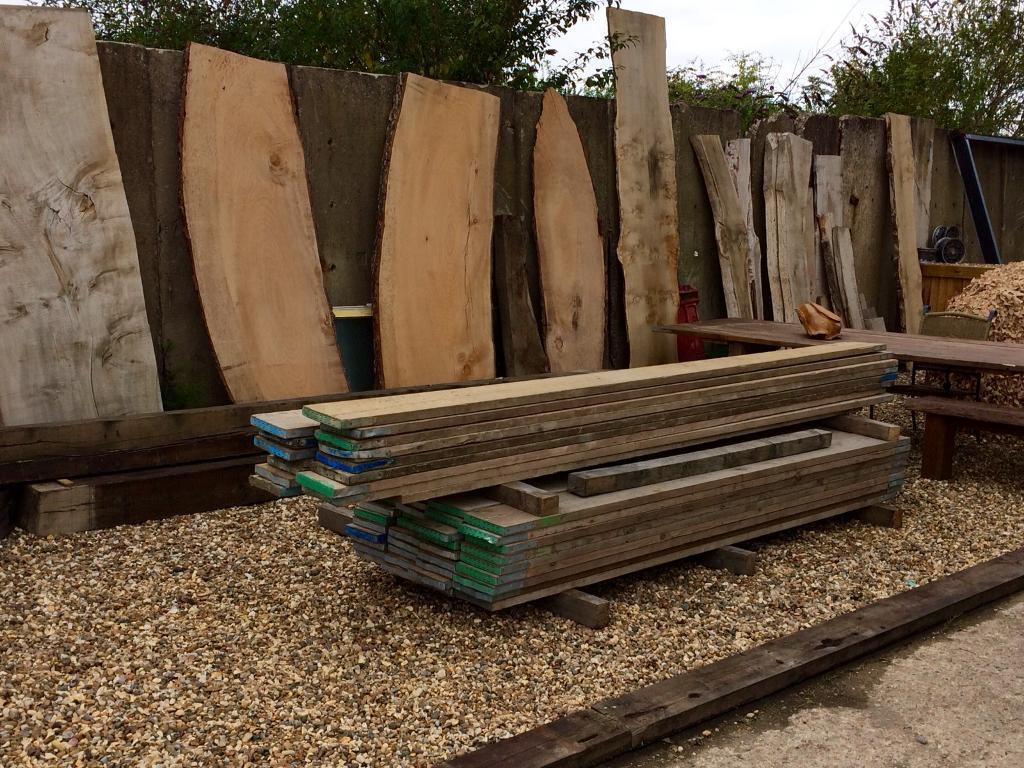 Reclaimed scaffold boards 13ft lengths