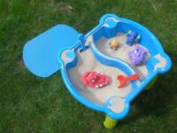 sand / water lids play pit