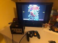 Nintendo Gamecube with unboxed Zelda Collector's Edition disc and 128MB memory card