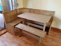 Dining Table with corner bench