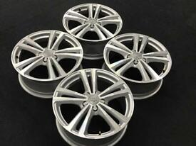 Audi A3 S3 8v 2013 Onwards 18inch Diamond Cut Finish Genuine Audi Alloy Wheels