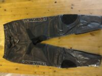 Men's biking leather trousers