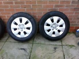 "Audi A3 2011 15"" alloys wheels plus tires"