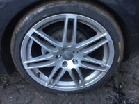 Audi tt mk2 19 inch alloys 255/35/19 9jx19h2 et52 5x110 will need change tyres