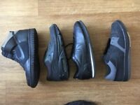 Four pairs of men's Nike trainers