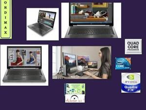 HP Elitebook 8770W Workstation Professionnel INTEL I7-QuadCore 8Theread /16GB ram/ Video NVIDIA Quadro 4 GB /500Gb/17.3