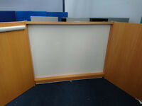 CONFERENCE WALL CABINET PROJECTOR SCREEN/WHITEBOARD AND FLIP CHART