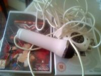 Nintendo Wii Games And Microphone.