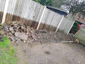 Free rubble and stones
