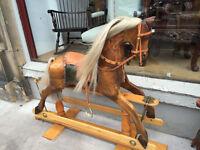 MUST BE SEEN ...... Handmade Tulipwood Rocking Horse