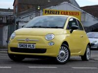 Fiat 500 1.2 Pop 3dr (yellow) 2009