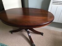 Beautiful Solid Mahogany Oval Coffee Table