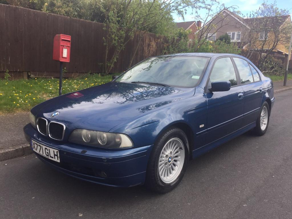 bmw 520i se blue 5 series e39 2 2 170bhp facelift full mot 530i 525i in leicester. Black Bedroom Furniture Sets. Home Design Ideas