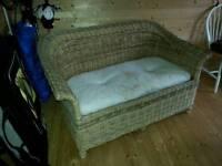 Real wicker rattan sofa conservatory garden