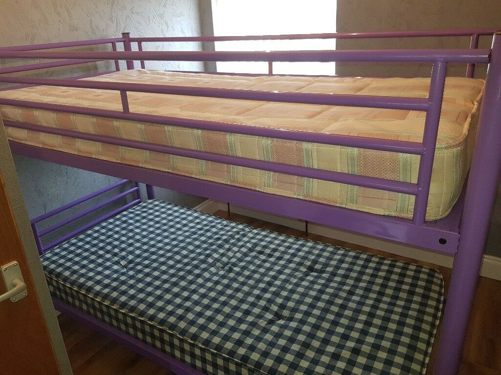 As New Bunk Beds With 2 X Mattress Only Used 5 Or 6 Times For Quick Childrens Bedroom