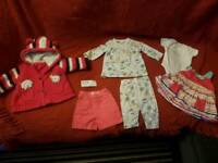 Baby clothes thick hooded jacket shorts set dress