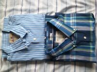 Men's shirts: 1 Hollister, 1 Abercrombie & Fitch