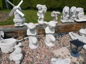 Concrete Garden Angels Ornament