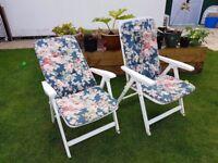 2 x Garden chairs (Reclining)