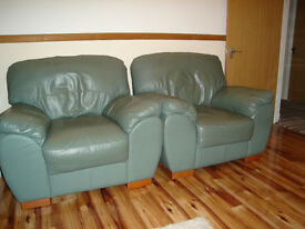 Leather armchairs for sale.