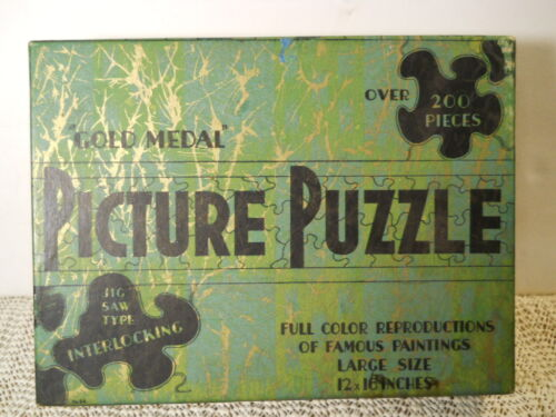 1930's GOLD MEDAL Picture Jigsaw Puzzle 200+ Pieces A GOOD STORY BY A BAD SHOT