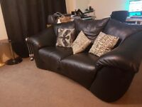 original Black leather 3 seater sofa in great condition